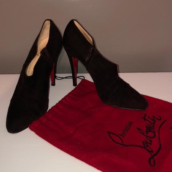 514fe0b3a0e Christian Louboutin Shoes - Louboutin chocolate booties